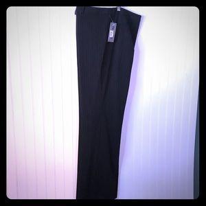 NWT Style & Co Stretch Slacks Black Pinstriped 14